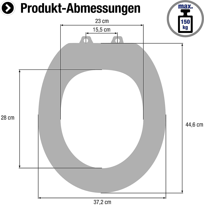 color negro Cornat Cetina KSCET50 Asiento de inodoro duroplast