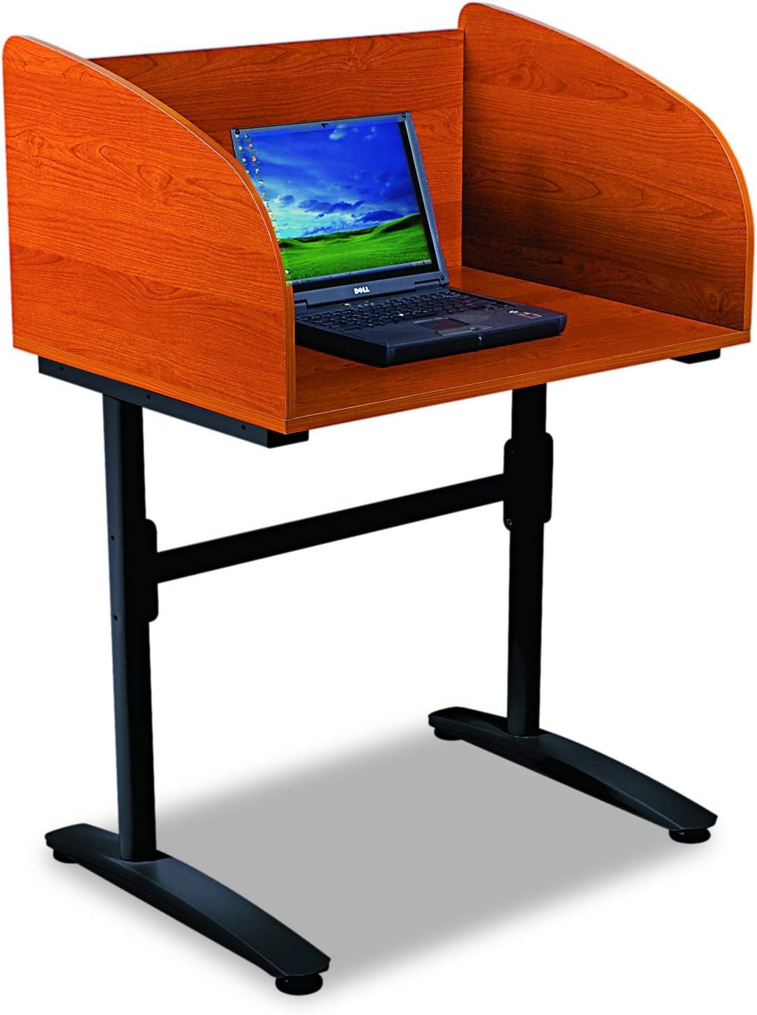 Balt Lumina Starter Carrel Privacy Workstation, Cherry/Black, 45.75