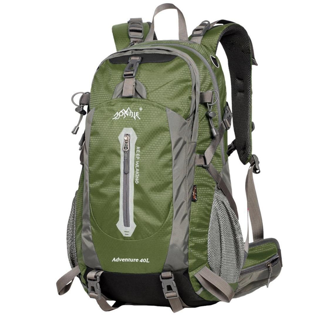 aonijie 50Liter mit grünen Professional Wasserdichte Outdoor Sports Klettern Rucksack Tasche Cover Bergsteigen Rucksack Schultertasche Camping Wandern Rucksack