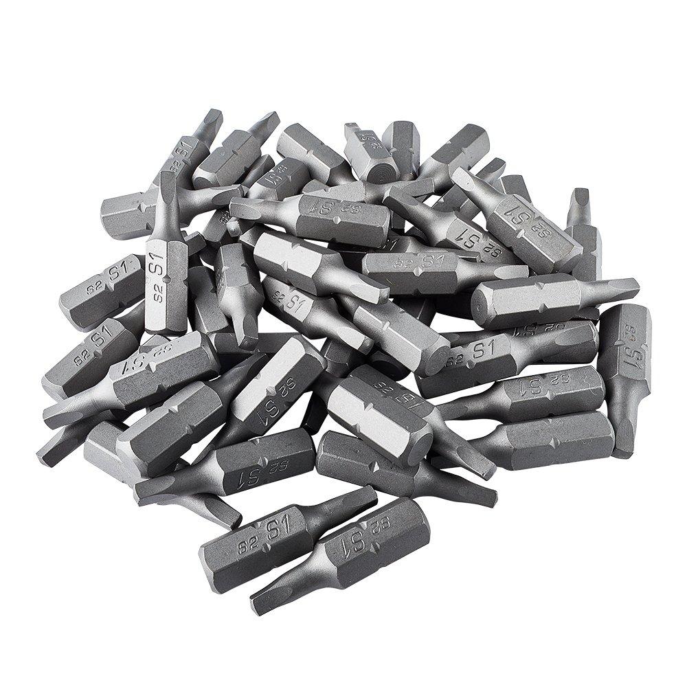 ToolPro #1 Square Drive Bits (50 pack) in Interlocking Storage Box
