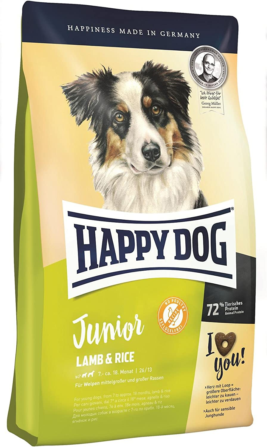Happy Dog Junior Lamb and Rice Comida para Perros - 10000 gr