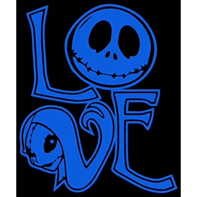 Nightmare Before Christmas Love Sally and Jack Decal Vinyl Sticker Cars Trucks Vans Walls Laptop 5.5 x 4.5 (Light Blue): Automotive