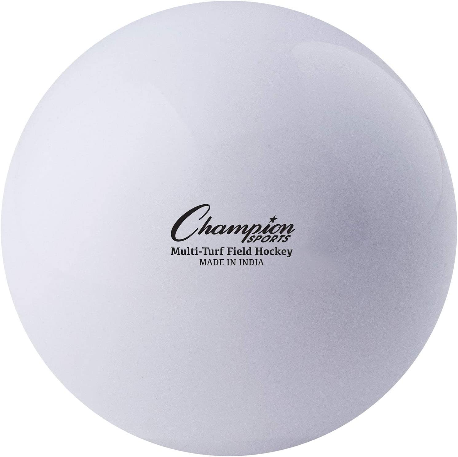 """Champion Sports Field Hockey Balls, Regulation Size, 12-Pack, 2.75"""" Each - Sports Practice Hockey Ball Set for Fields, Grass, Turf - Durable, Bouncy, Lightweight, Bright Colored - White : Sports & Outdoors"""