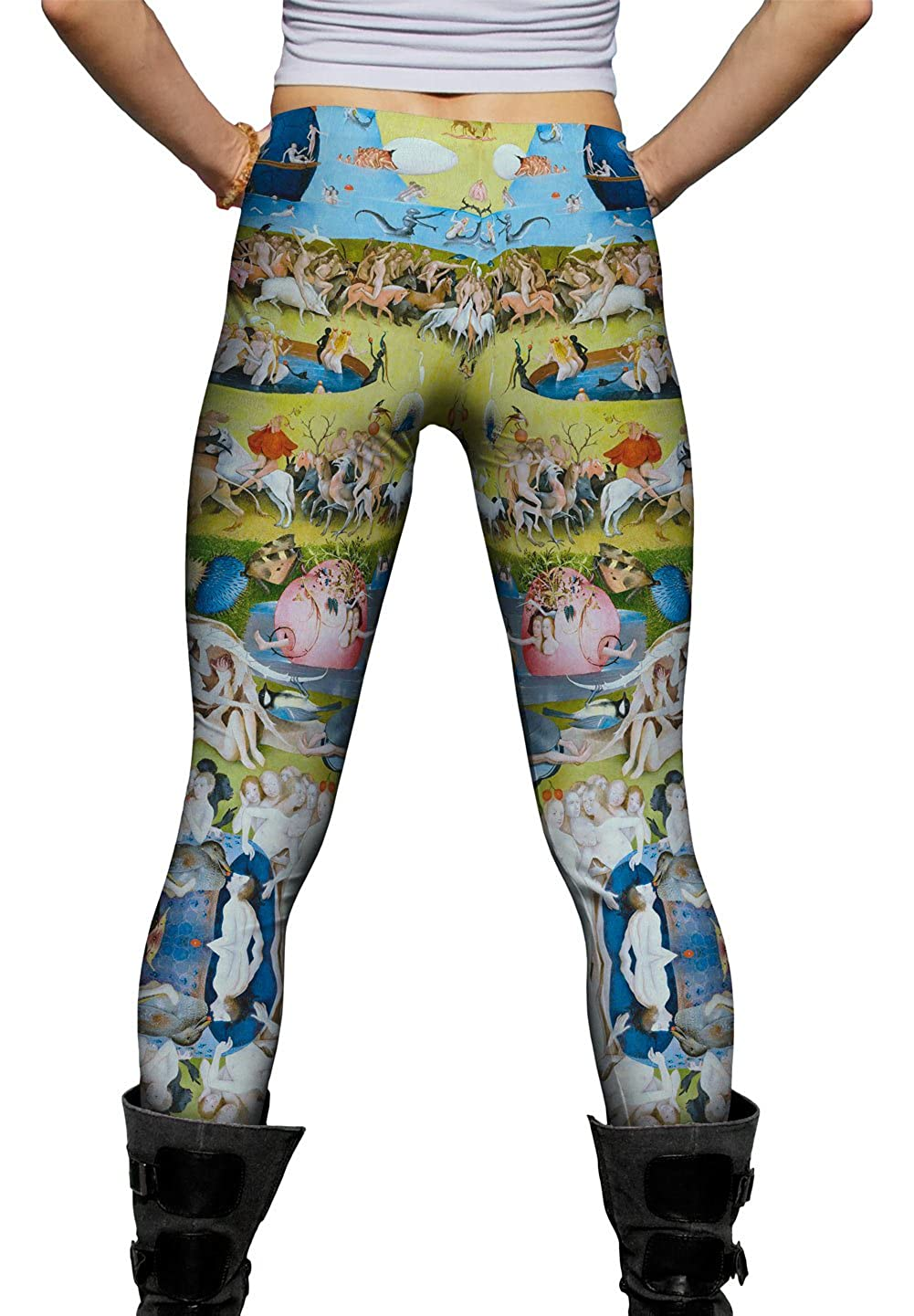 Yizzam -New Ladies Womens Leggings 1497 Hieronymus Bosch The Garden of Eart