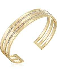 Sorrelli Lisa Oswald Collection Women's Different Layers Cuff Bracelet, Clear, 2.5