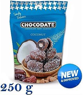 250 g Chocodate - Dátiles de chocolate y coco con almendras