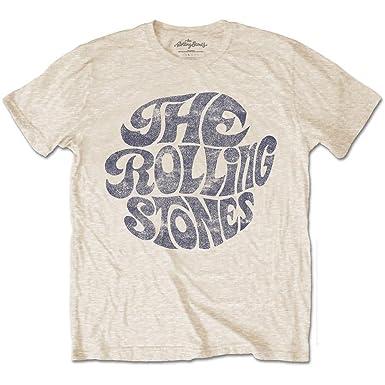 Rolling Stones Men's 0's Logo T-Shirt Sand