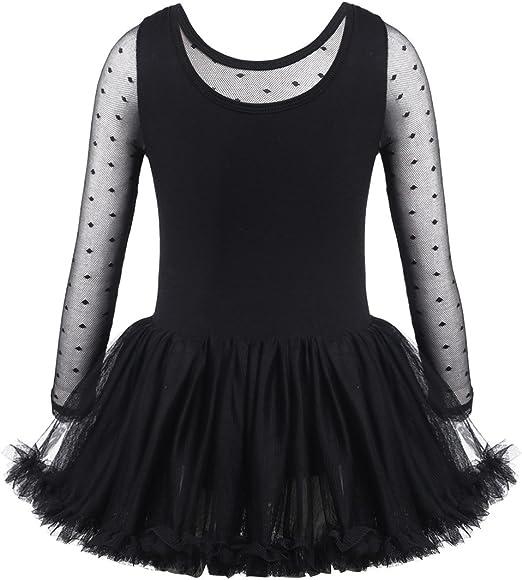 CHICTRY Vestido de Ballet Danza para Niña Manga Larga Vestido de ...