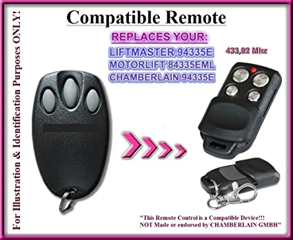 Chamberlain Liftmaster Motorlift 94335e Replacement Remote Control