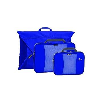 947379af0bce Eagle Creek Pack-It Compression Cube Set + Garment Folder, Blue Sea
