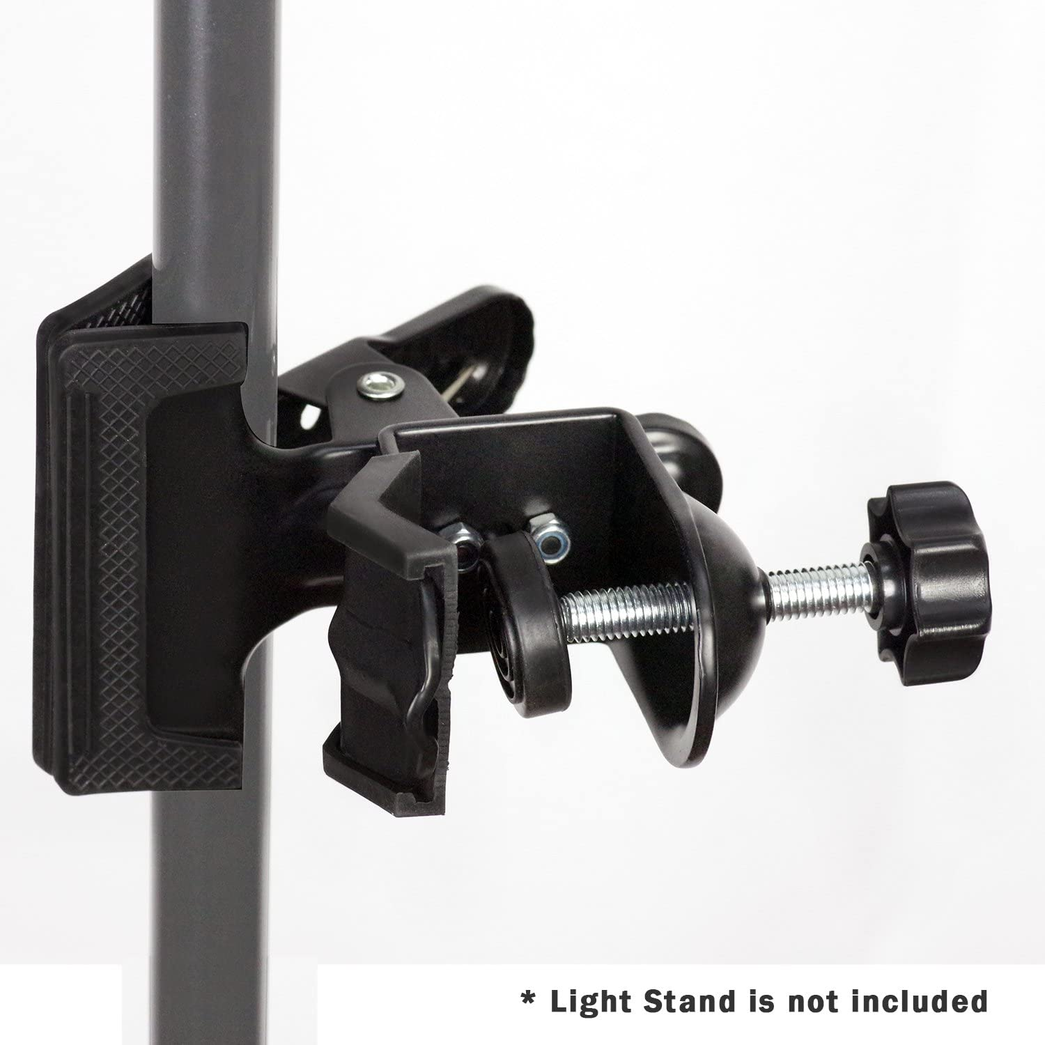 AGG2422 LimoStudio 2 in 1 Mounting Black Spring Clip Clamp Holder with C-Clamp for Photo Studio Light Stand Tripod Boom Arm Backdrop Support