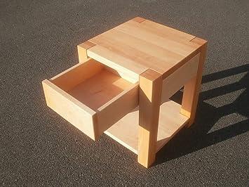 Nachttische Holztisch Beistelltisch Erle massiv. Maße : 40x40x45cm ...