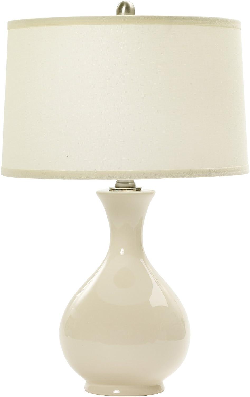 15 x 15 x 24 Lamp /& Shade Bone /& Oil Rubbed Bronze Accents 15 x 15 x 24 m r Fangio Lighting W-MR8747BONE Ceramic Table Lamp