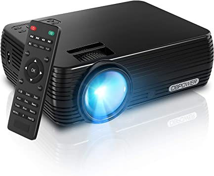 Amazon Com Projector Dbpower Mini Portable Video Projector 176 Display 50 000 Hours Led Full Hd Projector 1080p 2018 Released Compatible With Hdmi Vga Av Usb Tf Amazon Fire Tv Stick Electronics