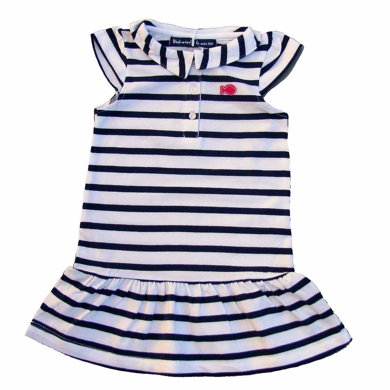 Week-end à la mer Kleid blau weiß