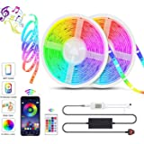 LED Strip Lights, 32.8ft Lights Strip Music Sync, App Control with Remote, 5050 RGB LED Light Strip Color Changing 24…