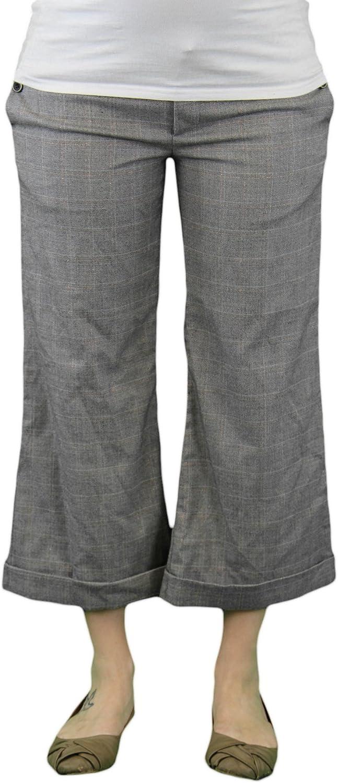 Venga Madre Maternity Gray Plaid Gales Capri Dress Pants Sz 2 At Amazon Women S Clothing Store