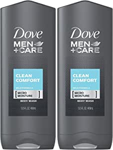 Dove Men + Care Body & Face Wash, Clean Comfort 13.50 oz (Pack of 2)