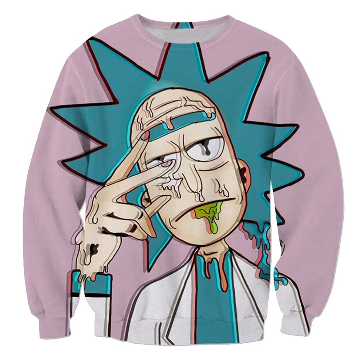 Unisex Rick and Morty 3D Printed Tops Fashion Sweatshirts With Two Side Pocket and Long Sleeves