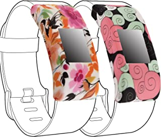 Band Cover for Fitbit Charge 2, Silicone Rubber Sleeve Protect Case Screen Protector Charge 2 Accessory