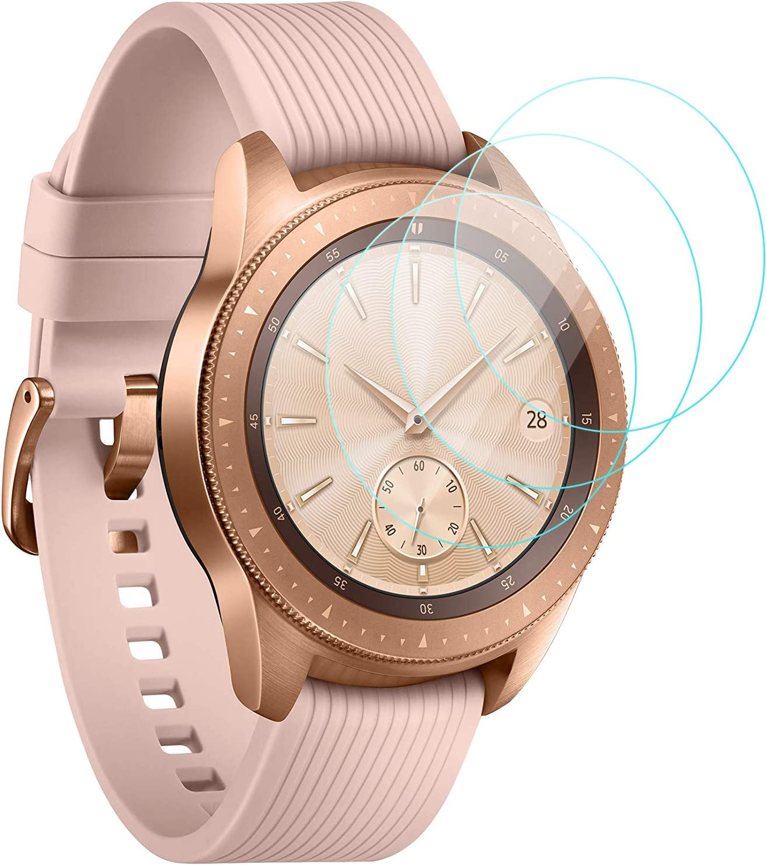 KIMILAR Pantalla Compatible con Samsung Galaxy Watch 42mm / Gear S3 Protector Pantalla, Templado Vidrio Compatible con Galaxy Watch 42mm & Gear S3 Frontier/Classic - 9H Dureza Anti-rasguñe
