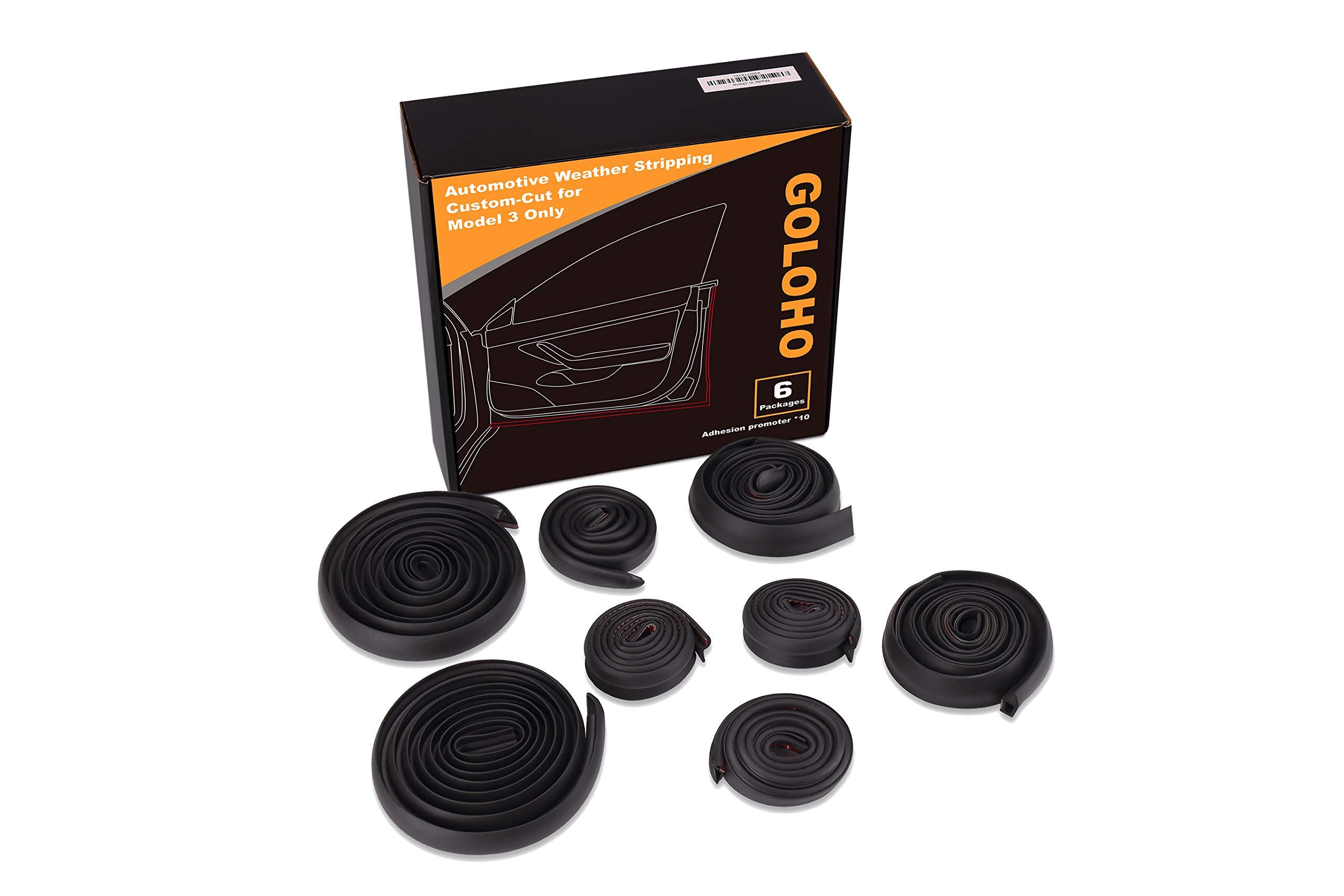 Self-Adhesive Rubber Weatherstrip Noise Reduction Door Seal Kit Tesla Model 3