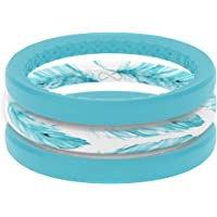 Groove Life Silicone Wedding Ring for Women - Breathable Rubber Rings for Women, Lifetime Coverage, Unique Design, Comfort Fit Womens Ring - Thin Air