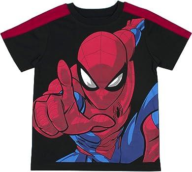 Marvel - Camisetas para niños (3 unidades), diseño de Spiderman y Avengers Superhéroes - Azul - 24 meses: Amazon.es: Ropa y accesorios