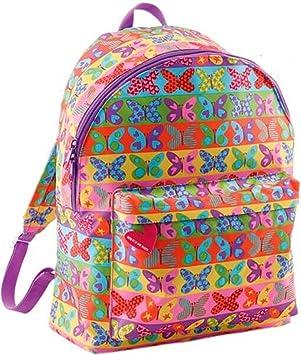 Set escolar MiquelRius Agatha Ruiz de la Prada Mariposas Multicolor- Mochila grande + Carro rojo + estuche + Carpeta de anillas: Amazon.es: Oficina y papelería