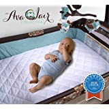 "Waterproof Pack N Play Mattress Pad - Fitted Baby Playard Crib Mattress Pad, Mini & Portable Mattresses - Hypoallergenic, Absorbant - 27"" x 39"" x 5"" - Classic White"
