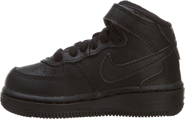 314197-004 TD Force 1 MID Nike Infants Shoes Black//Black