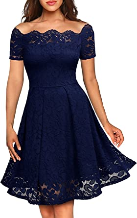 Amazon.com: Missmay vestido de cóctel de manga corta con ...