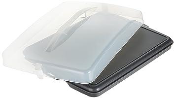 Xavax Blechkuchen Transportbox Rechteckig Transparente Haube Mit