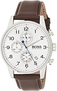 Hugo BOSS Reloj con mecanismo de cuarzo para hombre 1512570, cronógrafo y correa de piel: Hugo Boss: Amazon.es: Relojes