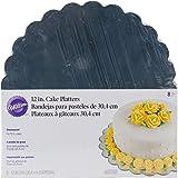 Wilton Pack de 8 Bases de cartón, 30 cm, Color Plateado