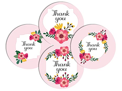 Thank You Sticker Labels For Return Gifts Envelope Seals Bills Product Packings And