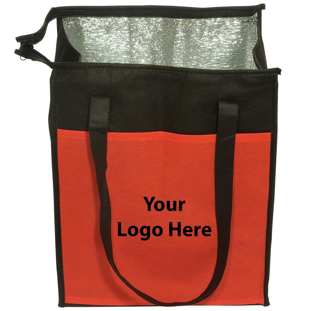Insulated Grocery Tote - 50 Quantity - $4.39 Each - PROMOTIONAL PRODUCT / BULK / Branded with YOUR LOGO / CUSTOMIZED
