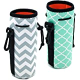 Af-Wan Protable Neoprene Insulated Water Drink Bottle Cooler Carrier Cover Sleeve Tote Bag Pouch Holder Strap(2 Colors…