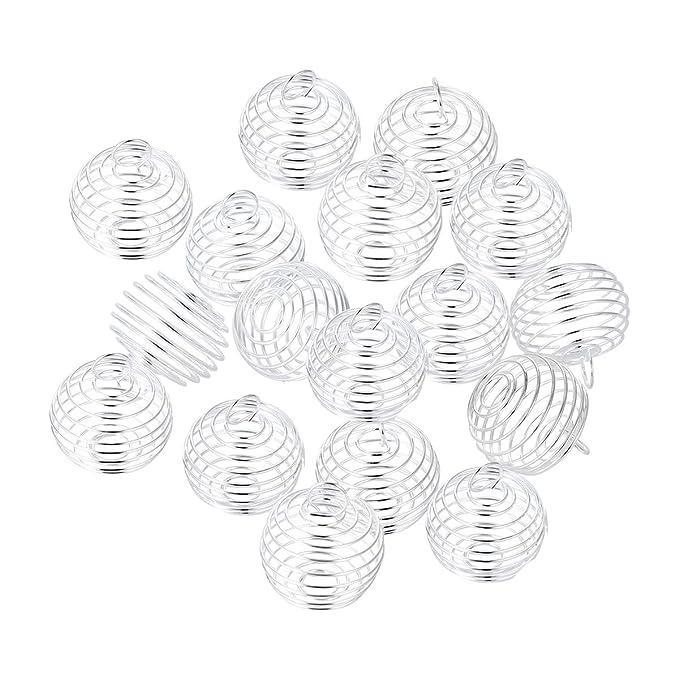 Amazon Com 20pcs Golden Spiral Bead Cages Locket Pendants Jewelry