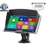 Xgody Bluetooth 7 Inch 256RAM Plus 16GB (8GB ROM + 8GB TF Card ) 826 Car Truck GPS Navigation System Capacitive Touchscreen SAT NAV Navigator Support Lifetime Maps Update with Sun Shade(826BT+TF)