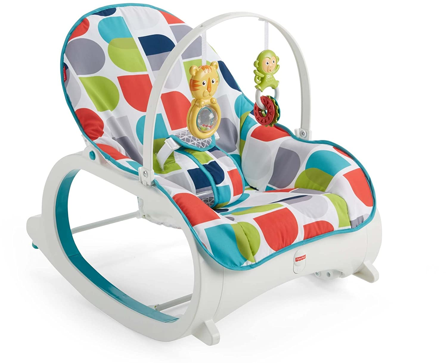 Fisher-Price Newborn-to-Toddler Rocker, Glacier Wave CMR13