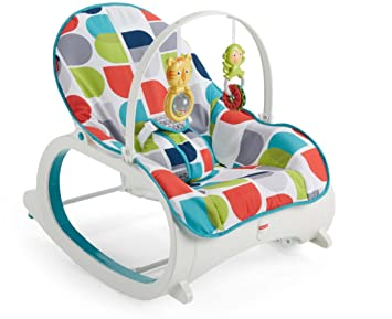 3619e63a0 Amazon.com : Fisher-Price Infant-to-Toddler Rocker, Geo Curve Multicolor :  Baby