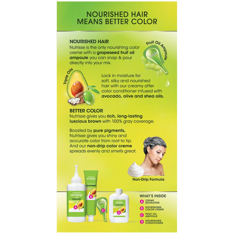 Amazon.com: Garnier Nutrisse Nourishing Hair Color Creme, 50 Medium ...