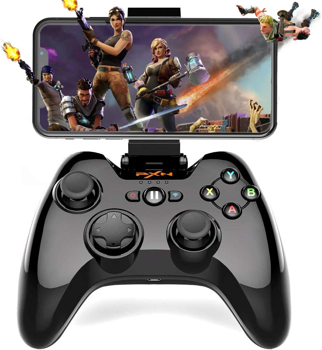 Amazon Com Wireless Gamepad Controller Megadream Ios Mfi Gaming Joystick With Clamp Holder For Iphone Xs Xr X 8 Plus 8 7 Plus 7 6s 6 5s 5 Ipad Ipad Pro Air Mini