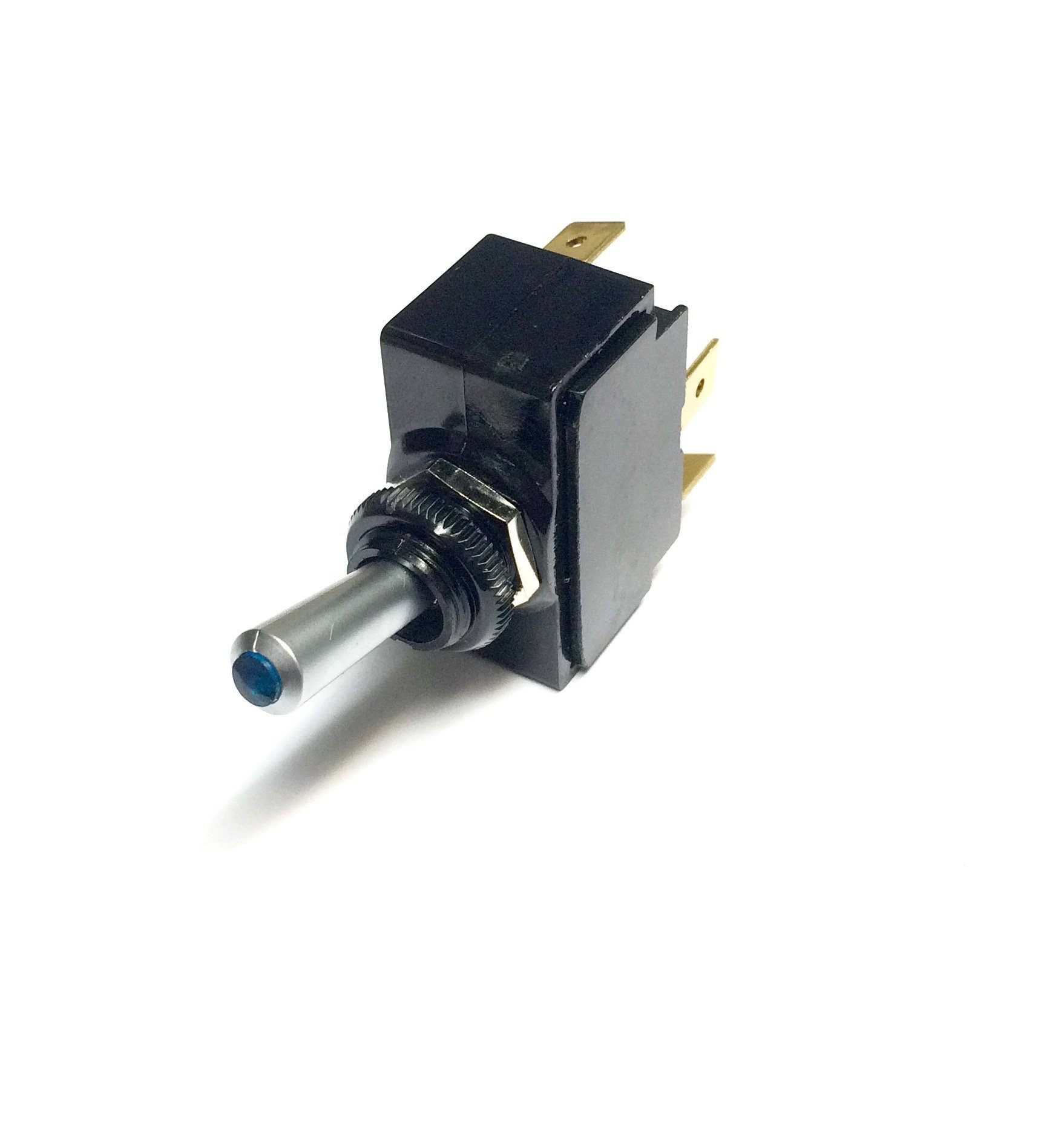 Toggle Switch ON/Off, SPST, Lighted Blue Lens by Carling/Cole Herse switches