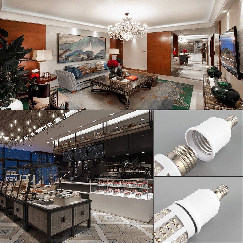 Pandamama Easy to Install Safe E12 to E27 Socket Light Bulb Lamp Holder Adapter Plug Extender Lampholdere12 lamp Socket lamp Holder with Plug