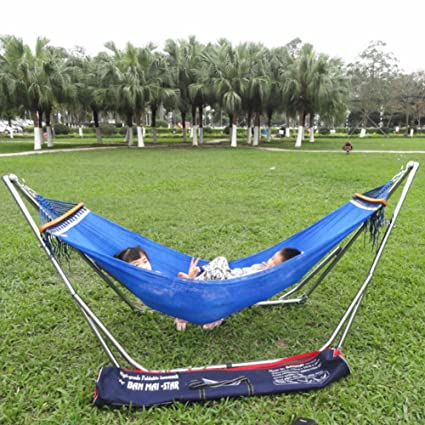 amazon com colorful hammock with space saving folding steel stand