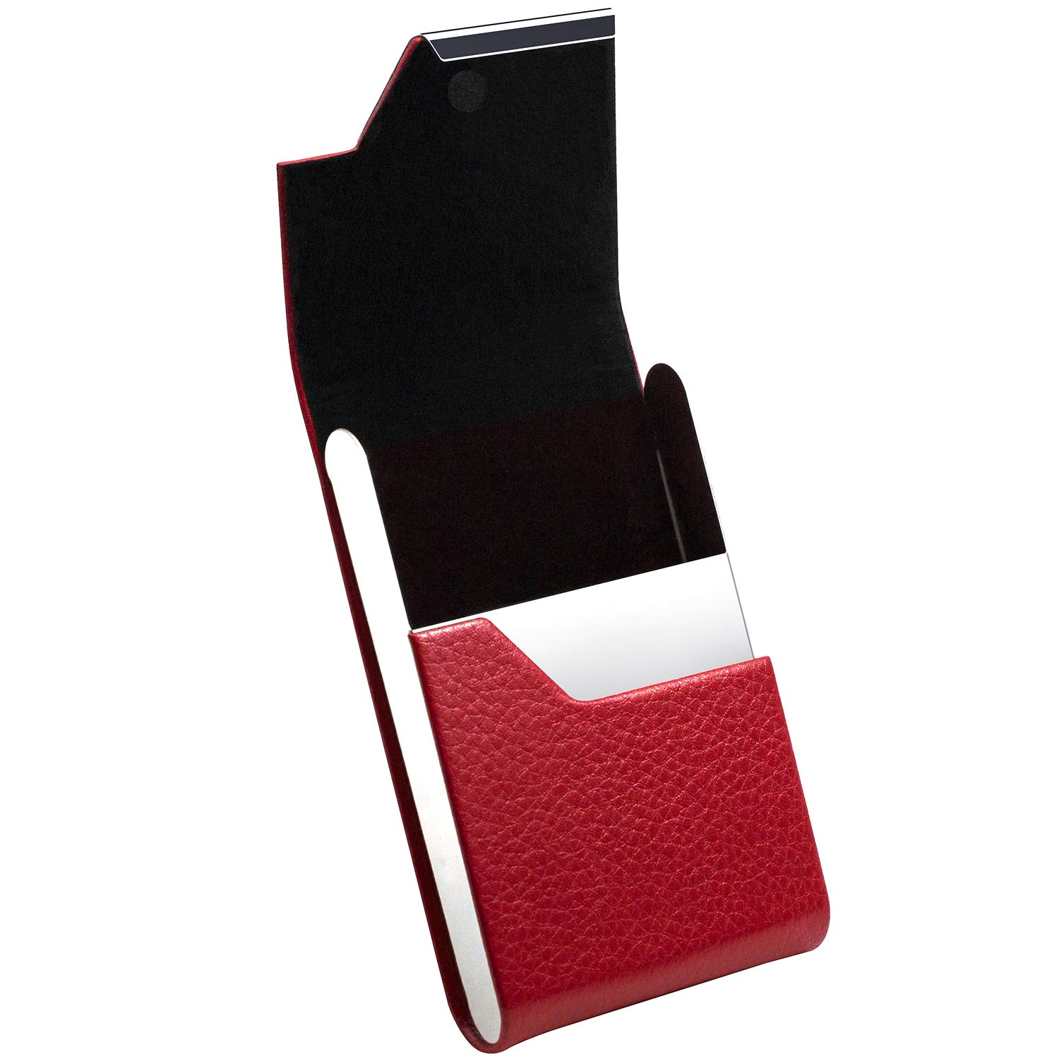 Padike Professional Business Card Holder Business Card Case Luxury PU Leather /& Stainless Steel Card Holder Credit Card Holder Pink Keep Business Cards in Immaculate Condition.