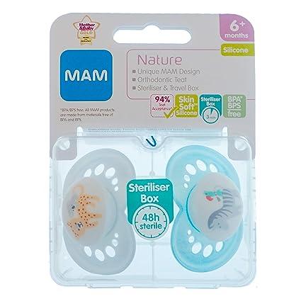 MAM Nature: 2 x Chupetes 6m+ (Leopardo/cebra): Amazon.es: Bebé