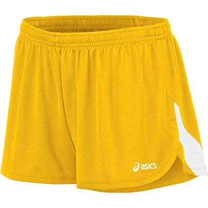 b9c5d23372b ASICS Women's Break Through 1/2 Split Short, Gold/White, X-Small:  Amazon.co.uk: Sports & Outdoors